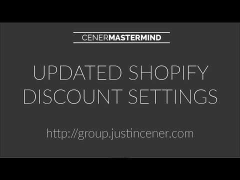 Updated Shopify Discount Promo Code Settings For 2017