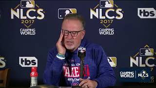 Joe Maddon Postgame Interview | Cubs vs Dodgers Game 3 NLCS