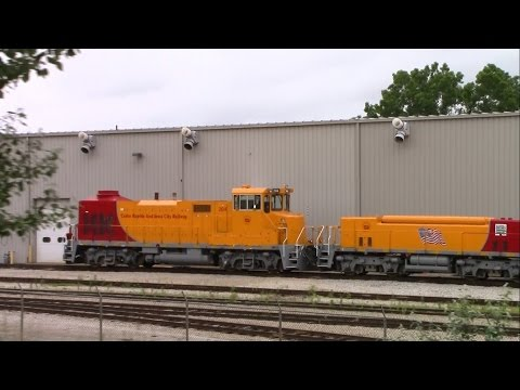 CRANDIC Railway Slug Sets in Cedar Rapids, Iowa
