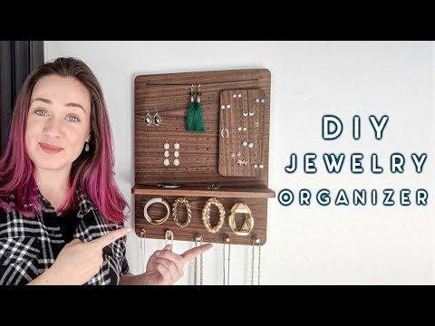DIY Magnetic Jewelry Organizer | mistakes, walnut, and brass