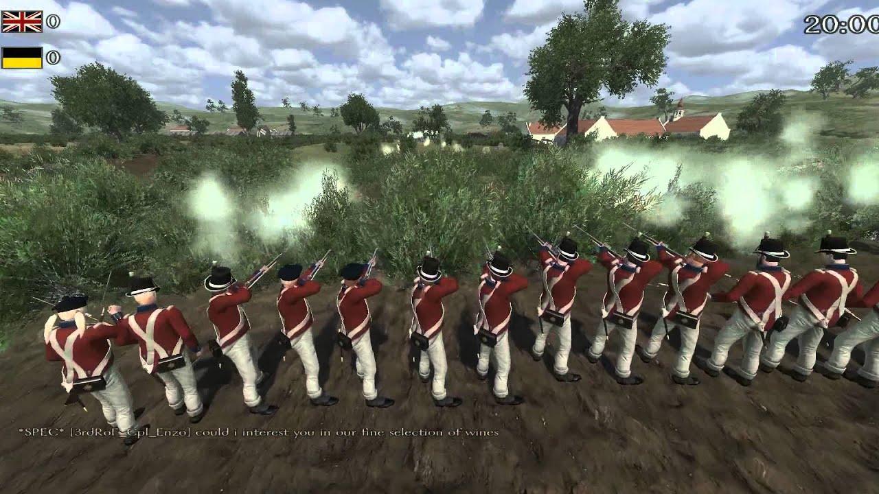 Mount & Blade Napoleonic Wars: Line Battle COTFM vs LEGIONDM - YouTube