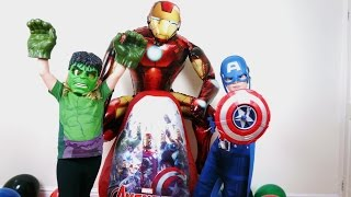 Disney Marvel Avengers Videos Age Of Ultron SUPER GIANT SURPRISE EGG IronMan Hulk Capt America Thor