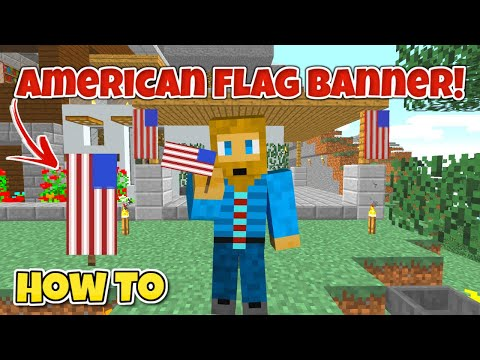 How To Make An American Flag Banner In Minecraft [EASY] | USA Flag Minecraft 1.13 / 1.14