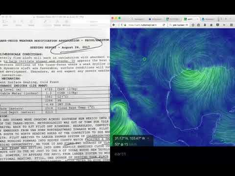 Weather Modification Docs Leaked to Seed Clouds & Cause Heavy Rain in TX, Same Day, Houston Floods