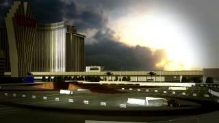 Tanner Foust car crash Global Rallycross SEMA Show Las Vegas and New Hampshire (sim test )
