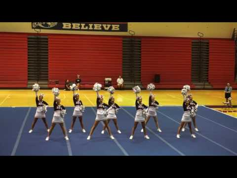 Hawaii Preparatory Academy (HPA) Cheer 1st Competition 2016-2017