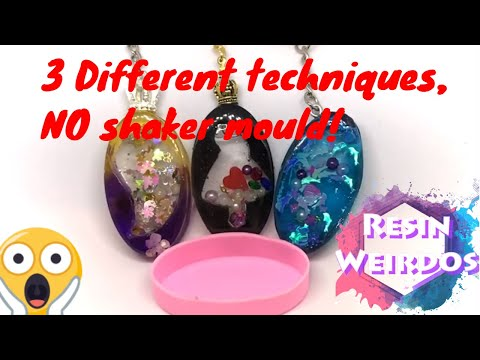 3 ways How to make shakers with normal moulds! Uv Resin Shakers - Resin Ideas