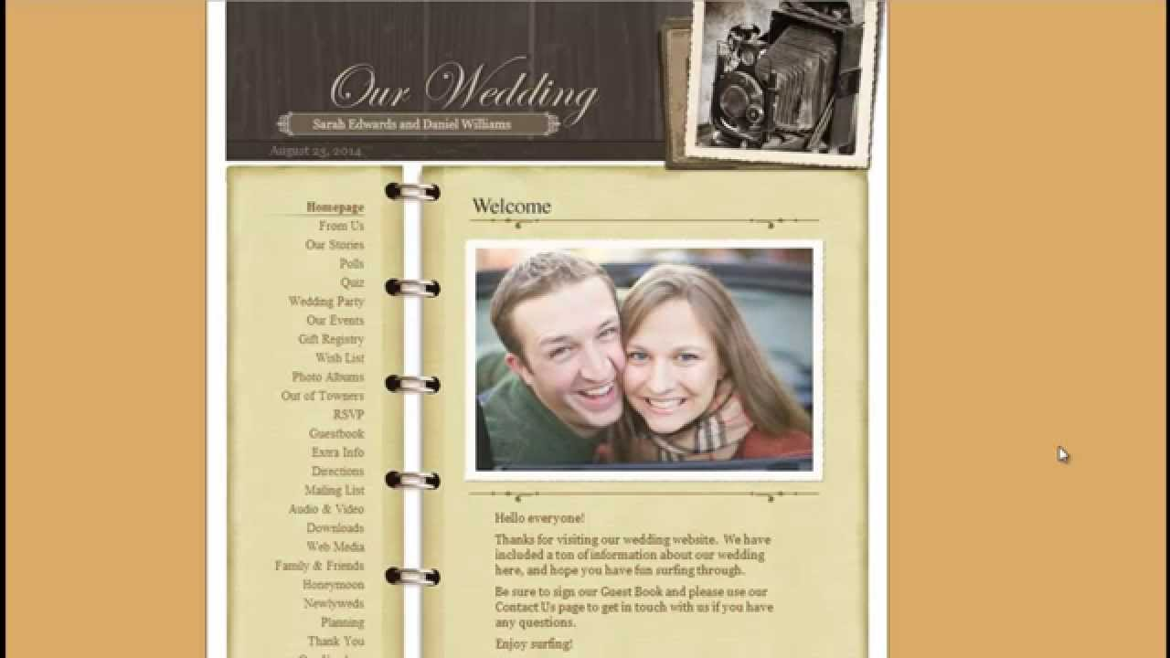Free Wedding Website - Create a Free Website and Online Registry ...