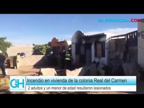 Reportan varios heridos en incendio en colonia Real del Carmen