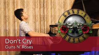 Guns N' Roses Don't Cry Piano Cover | Cole Lam 13 Years Old
