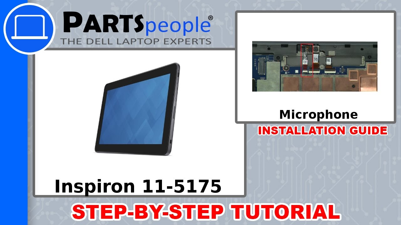 Dell Latitude 11-5175 (T04E001) Microphone How-To Video Tutorial