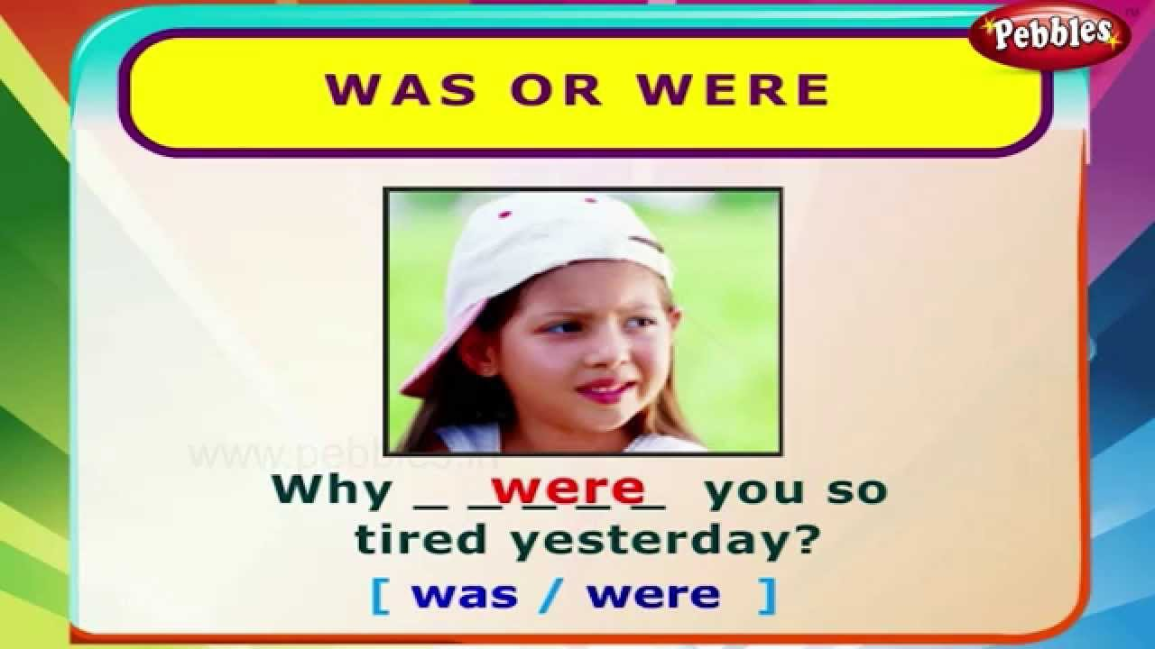 Was or Were | English Grammar Exercises For Kids | English Grammar ...