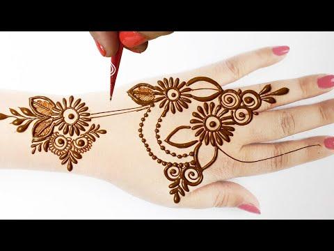 Eid Special Mehndi Design 2020 - Full Hand Mehndi Design   सूंदर सरल मेहँदी सीखे