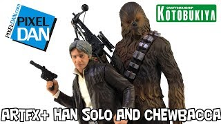 Star Wars Han Solo & Chewbacca TFA Kotobukiya ArtFX+ 1/10 Scale Statues Video Review