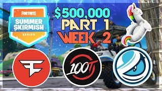 $500,000 🥊Summer Skirmish Tournament NA🥊 Week 2 Part 1 (Fortnite)