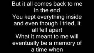 Gambar cover In the end - Linkin Park (with lyrics)