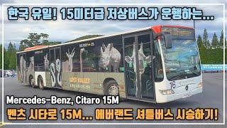 한국에 벤츠 시내버스가 있다? 용인 에버랜드 벤츠 시타…