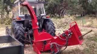 Wood Chipper / Tree Mulcher Hydraulic Feeds Cuts 150m