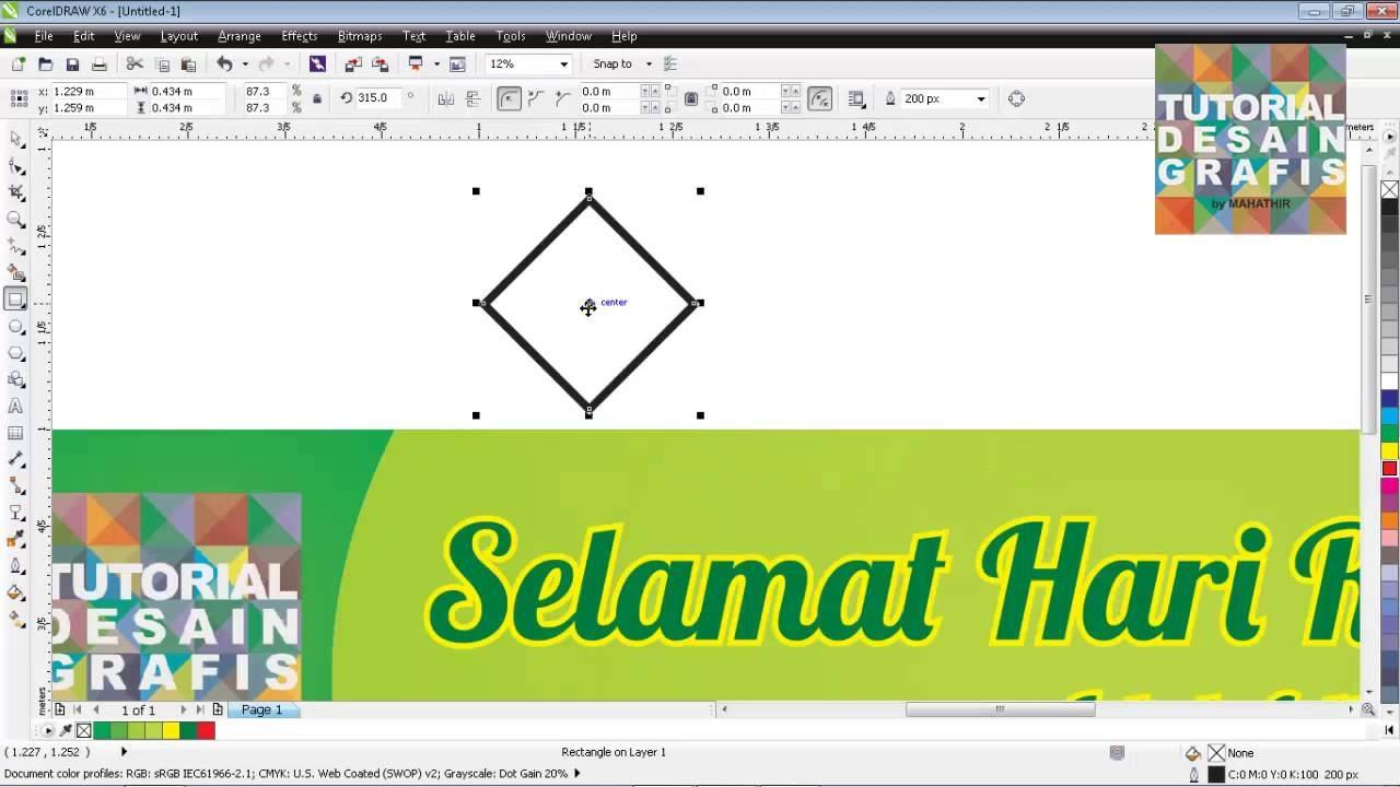 Contoh Desain Spanduk Idul adha 1436 H di corelDRAW - YouTube