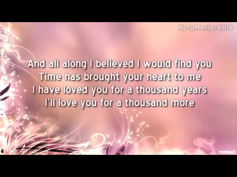 Christina Perri - A Thousand Years Lyrics | MetroLyrics