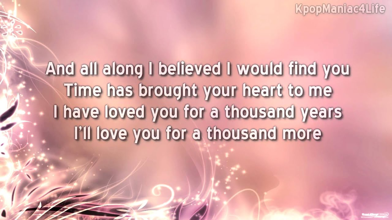 Song a thousand years lyrics