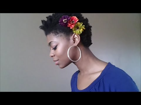 4c Natural Hair Easy Flower Accessories How To Make