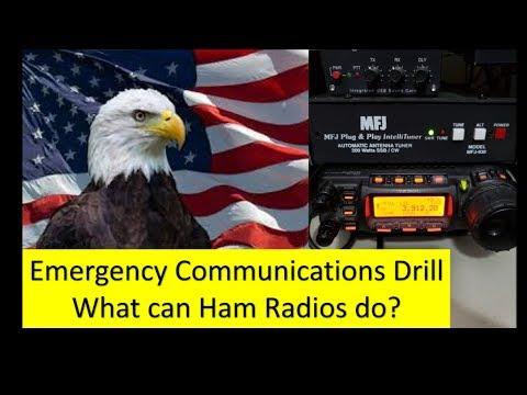 Ham Radio Emergency Drill. The Grid is down! Emergency preparedness.