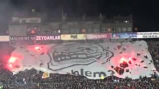 Фаер шоу турецких болельщиков/Turkish fanats fire show