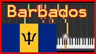 """Barbados"" National anthem {easy piano tutorial}-(Synthesia) HD"