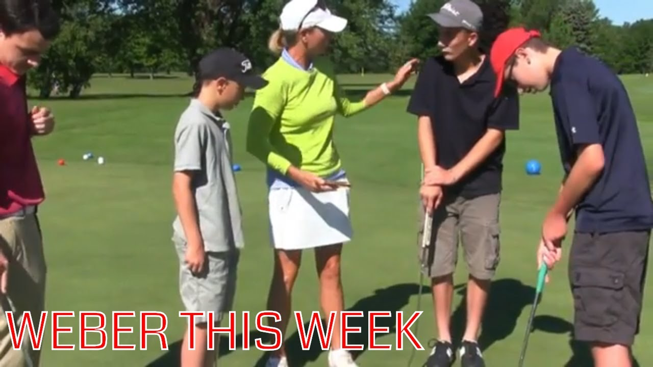 Golf Channel's Kellie Stenzel at SFCC Junior Golf .::. Weber This Week 7/9/18
