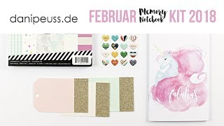 danipeuss.de Memory Notebook Kit | Februar 2018