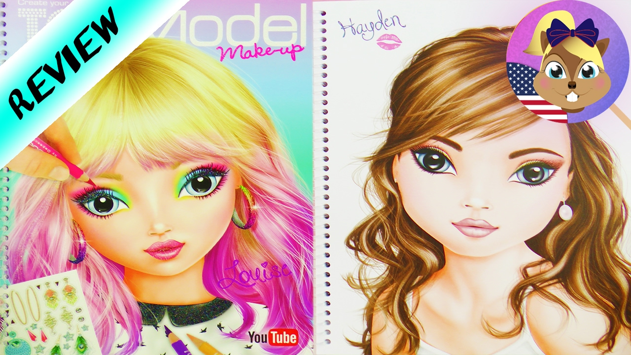 Topmodel Makeup Coloring Book Pretty Faces For Hairstyling And Makeup Review