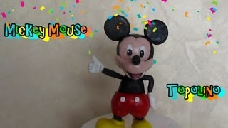 Mickey Mouse in fondant tutorial Come fare Topolino in pasta di zucchero