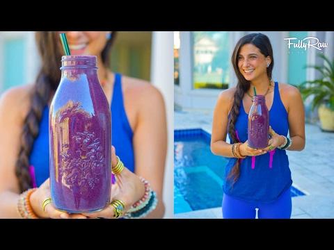 Antioxidant Rich Powerhouse Protein Blueberry Smoothie! (Yup...it