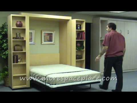 Www Morespaceplace Com New Bifold Bookcase Bed 0002 Youtube