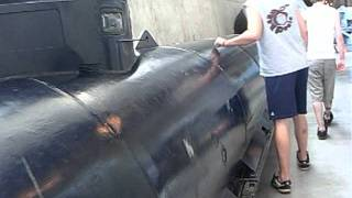 One Man electric mini German Submarine WWII 1944 carried 2 G7e Torpedoes