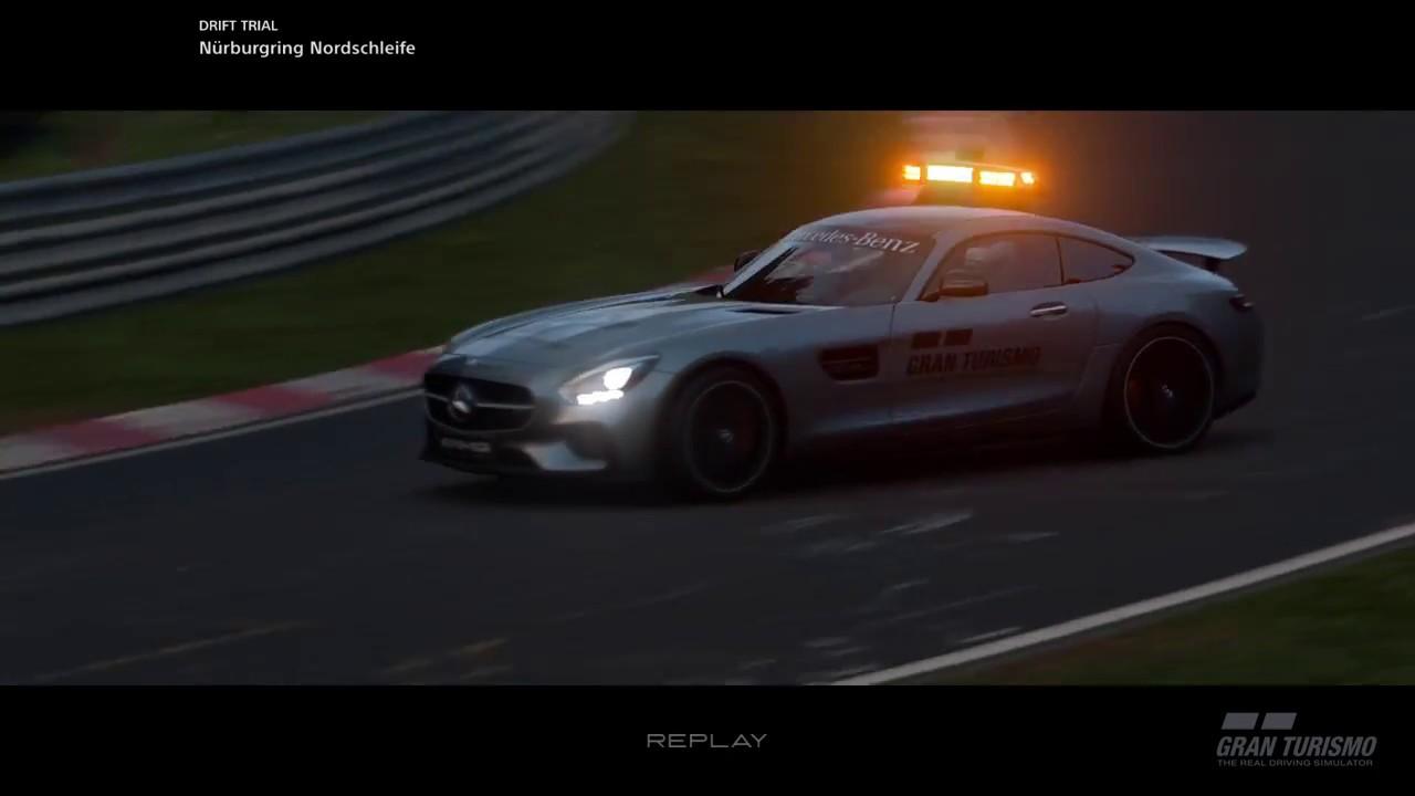 Gran Turismo Sport Drift Trial Amg Gt Safety Car