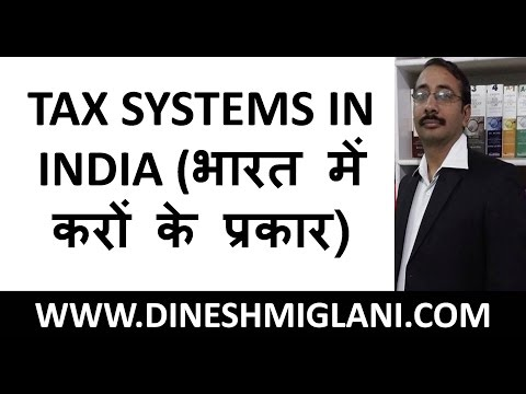TAX SYSTEMS IN INDIA (भारत में करों के प्रकार ) FOR IBPS PO, CLERICAL BY DINESH MIGLANI