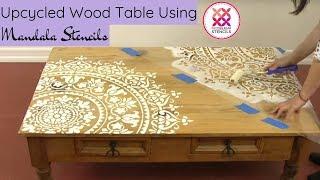 How To Paint A Mandala On A Table Using A Mandala Stencil