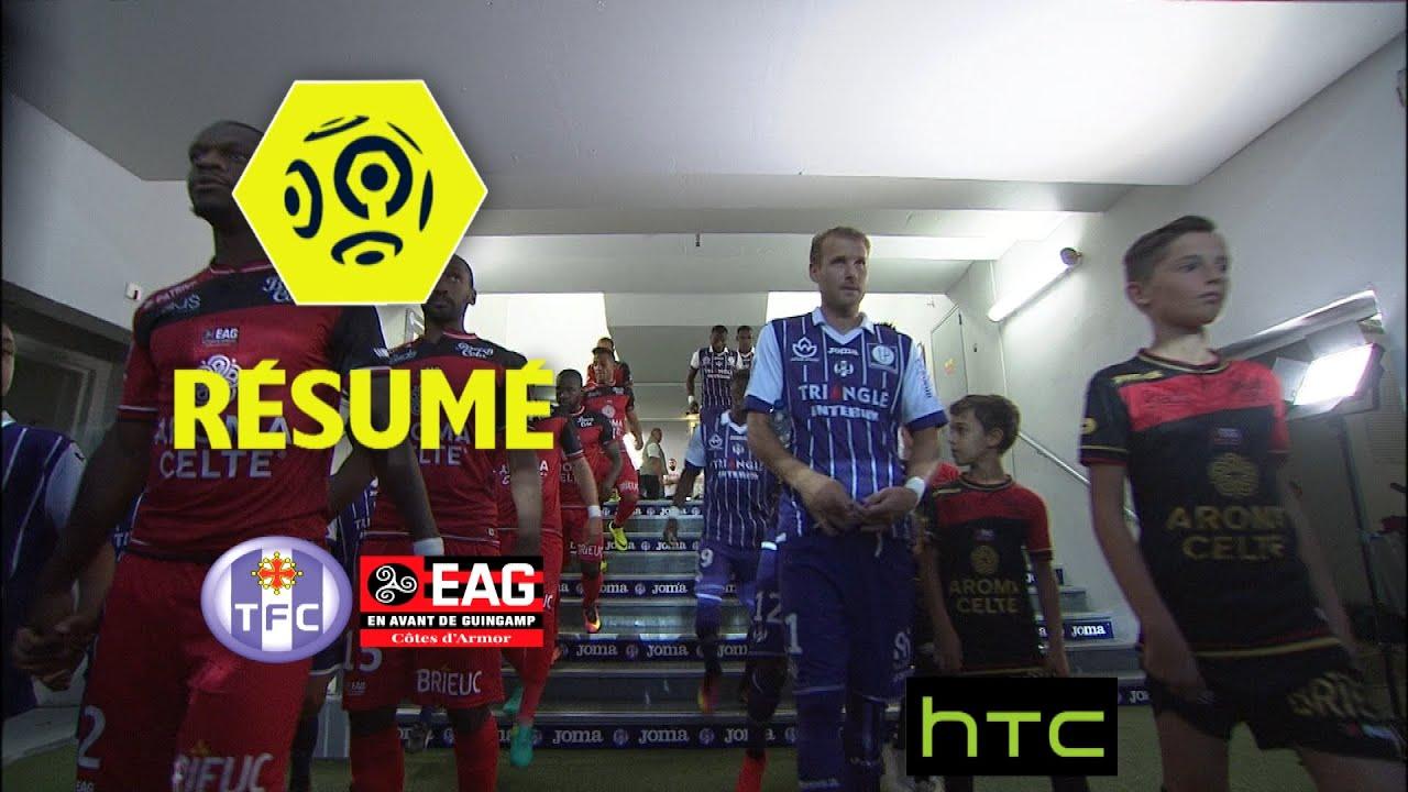 toulouse fc ea guingamp 2 1 résumé tfc eag 2016 17