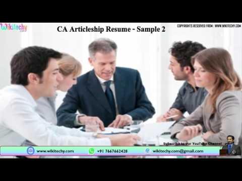 Ca Articleship Resume Chartered Accountant Ca Articleship