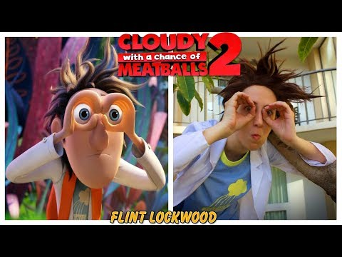 Cloudy with a Chance of Meatballs 2 Characters in Real Life  Behind the Voices