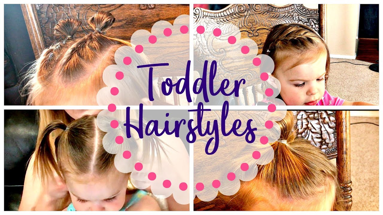 Quick Easy Toddler Hairstyles To Keep Hair Out Of Her Face Youtube