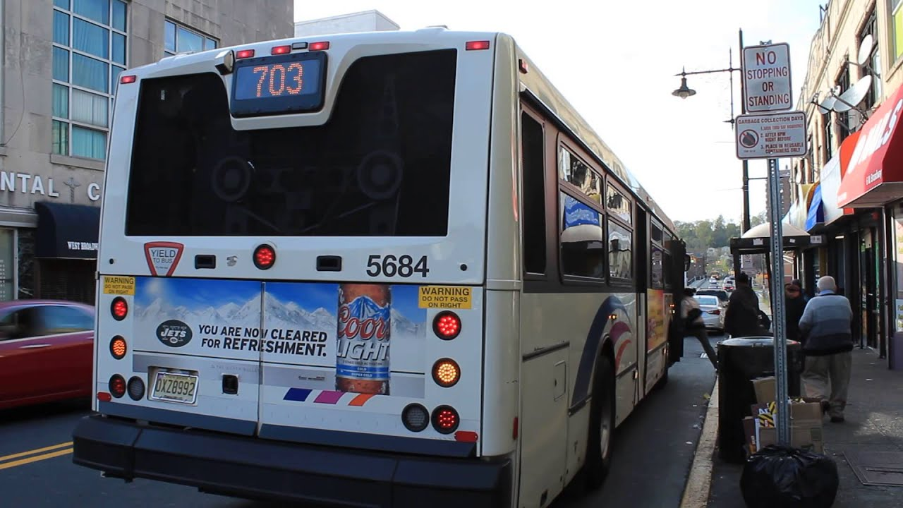 Nj Transit Bus 40sfw 5684 Route 703 At W Broadway