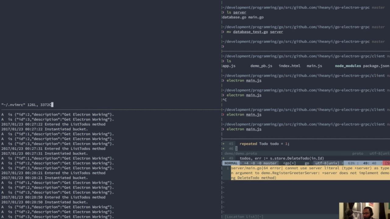 [EN] Building a Desktop Todo App [Go + gRPC + Electron + JS]