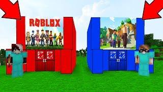 MINECRAFT CAVE VS ROBLOX CAVE! - Minecraft