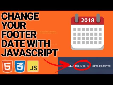 Change The Date In Your Footer With Javascript