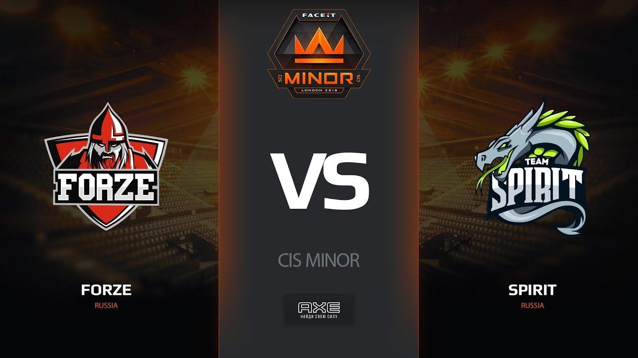forZe vs Spirit, mirage, CIS Minor – FACEIT Major 2018