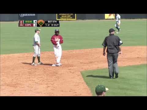 CofC Baseball vs William & Mary Game 2 - Highlights