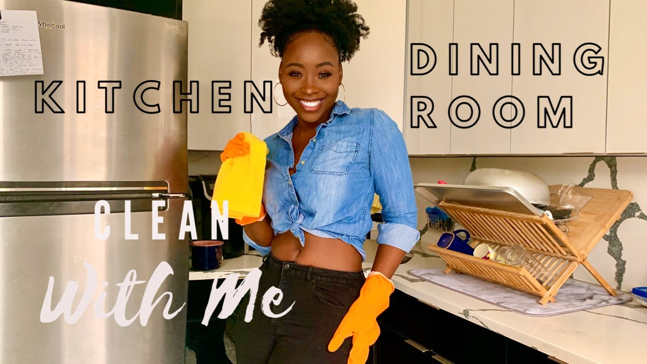 CLEAN WITH ME | Kitchen, Dining Room & Unpack